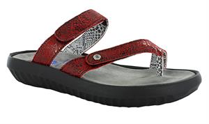 Wolky Bali Red Crash Suede