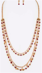 Red and gold necklace image